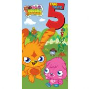 Moshi Monsters Age 5 Birthday Card with Badge